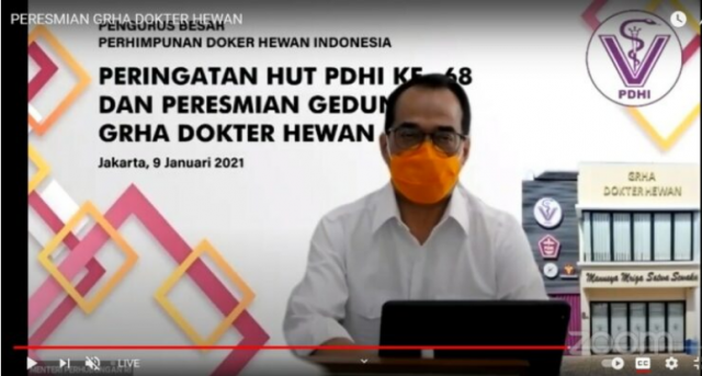 Menhub Budi Karya: PDHI Harus Wujudkan Payung Hukum Untuk Dokter Hewan